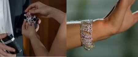 طلا و جواهرات سریال کاخ نشینان + گوشواره و گردنبند آیشن (9)