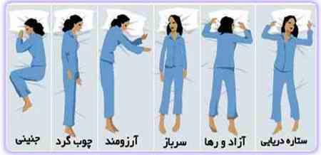 شخصیت شناسی بر اساس طرز خوابیدن