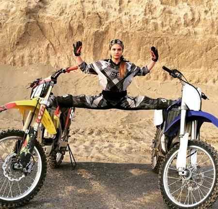عکس های بهناز شفیعی موتورسوار ایرانی در اینستاگرام (2)