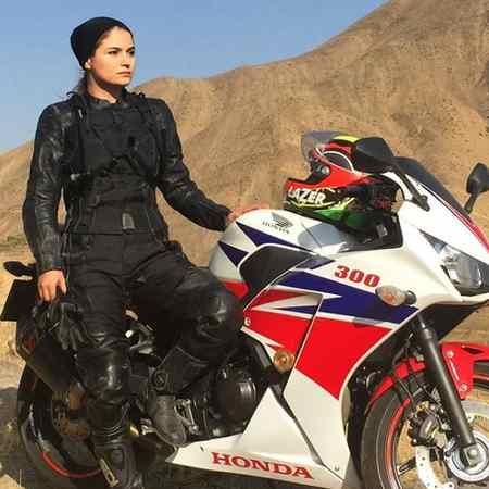 عکس های بهناز شفیعی موتورسوار ایرانی در اینستاگرام (3)