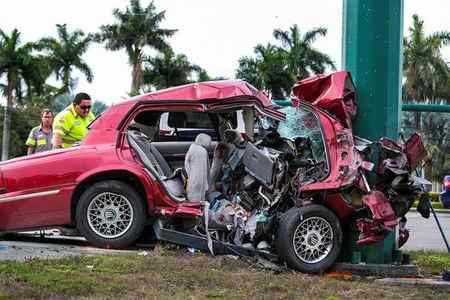 ماشین اندی پس از تصادف