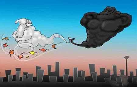 نقاشی در مورد آلودگی هوا (4)