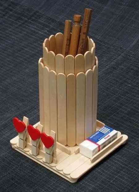 کاردستی با چوب بستنی ساده و خلاقانه (11)