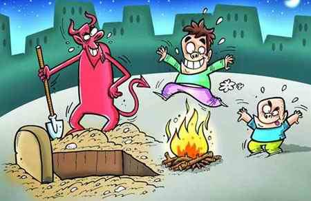نقاشی در مورد چهارشنبه سوری طنز و کاریکاتور (1)