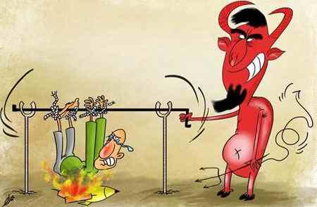 نقاشی در مورد چهارشنبه سوری طنز و کاریکاتور (4)