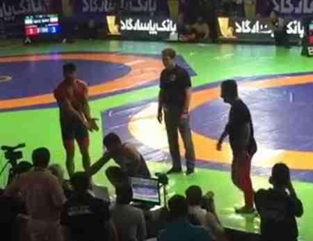علت دعوای سعید عبدولی و ایمان انصاری در مسابقات کشتی