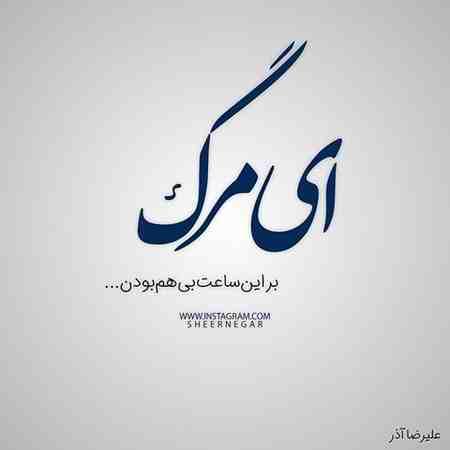 عکس نوشته ای مرگ بر این ساعت بی هم بودن علیرضا آذر (9)