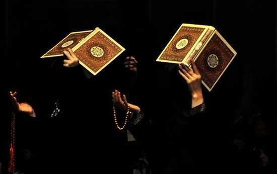 قرآن بر سر گرفتن در شب قدر