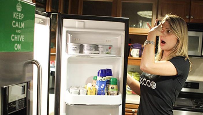 از بین بردن بوی بد یخچال در چند ثانیه !
