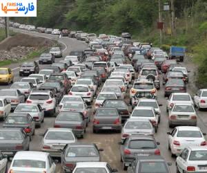 ترافیک پرحجم و روان در جاده های مازندران