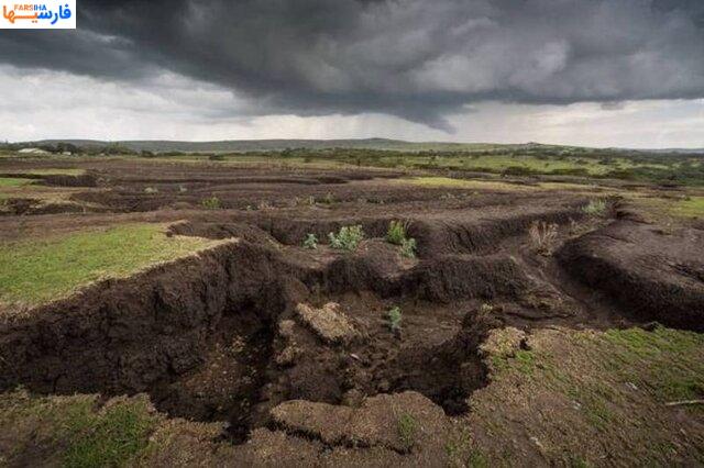 رتبه اول ایران در فرسایش خاک
