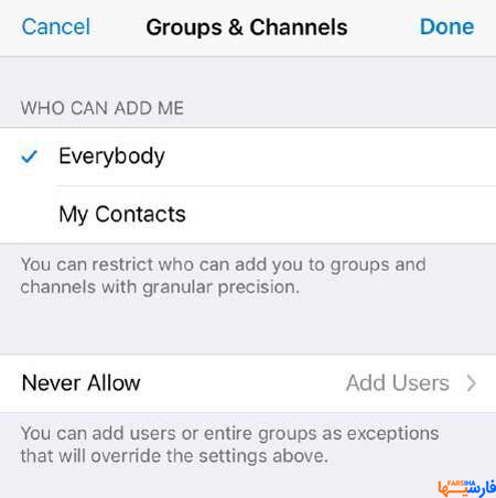 Groups & Channels