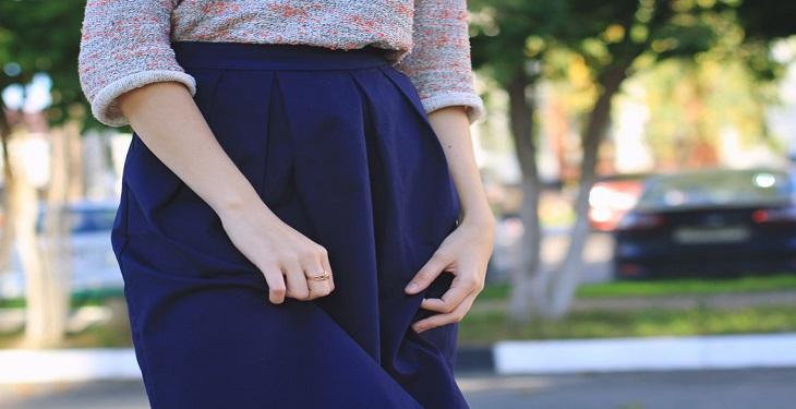 ست کردن لباس با دامن پیلی