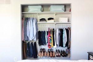 ایده هایی برای نظم دادن به کمد لباس