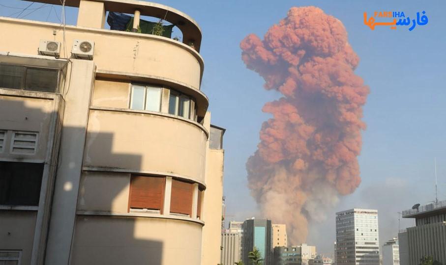تصاویری از انفجار  بیروت