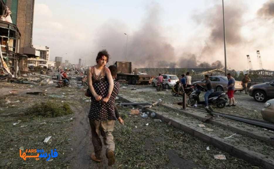 تصاویری از انفجار مهیب و آخر الزمانی بیروت