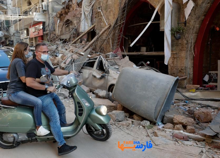 تصاویری از انفجار مهیب و آخر الزمانی  بندر بیروت