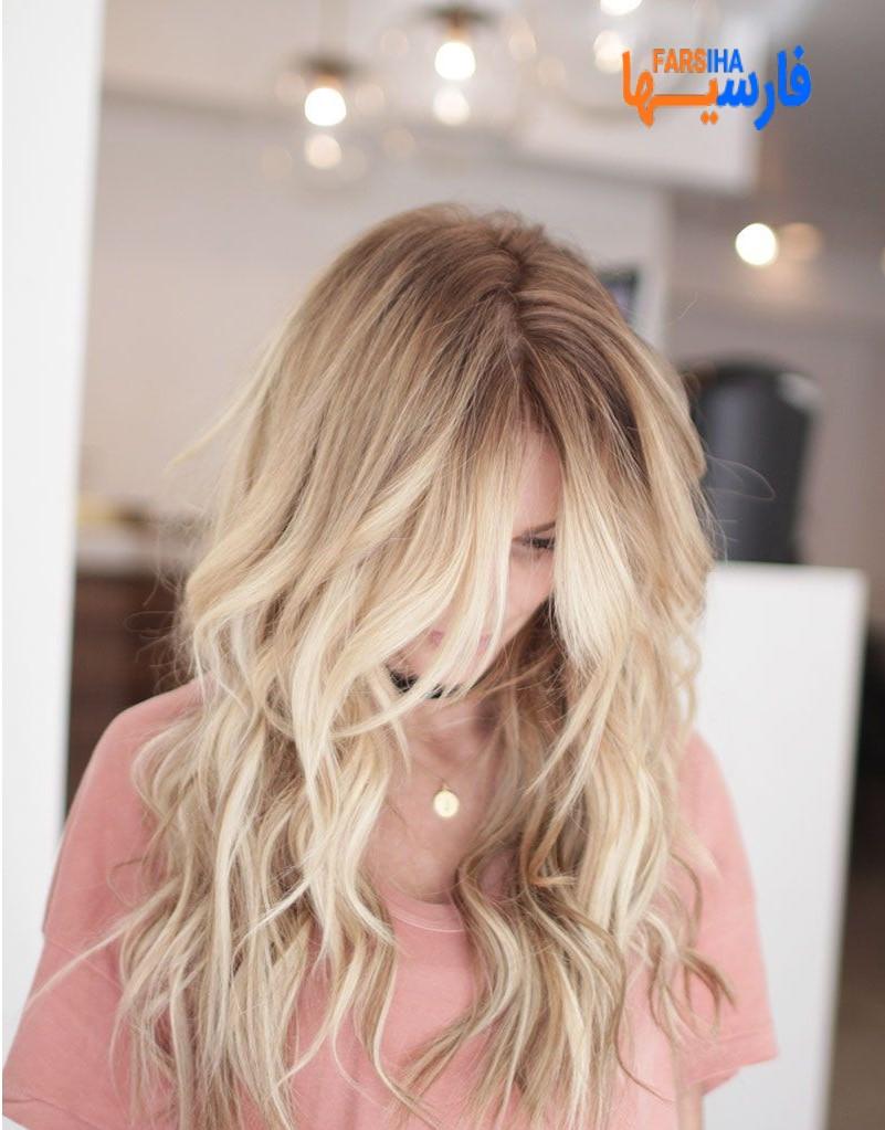 رنگ مو های شیک با تم بلوند