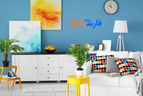 دکور خانه رنگی رنگی و دلنشین