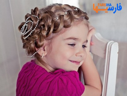 مدل های متنوع از شنیون موی کودکان