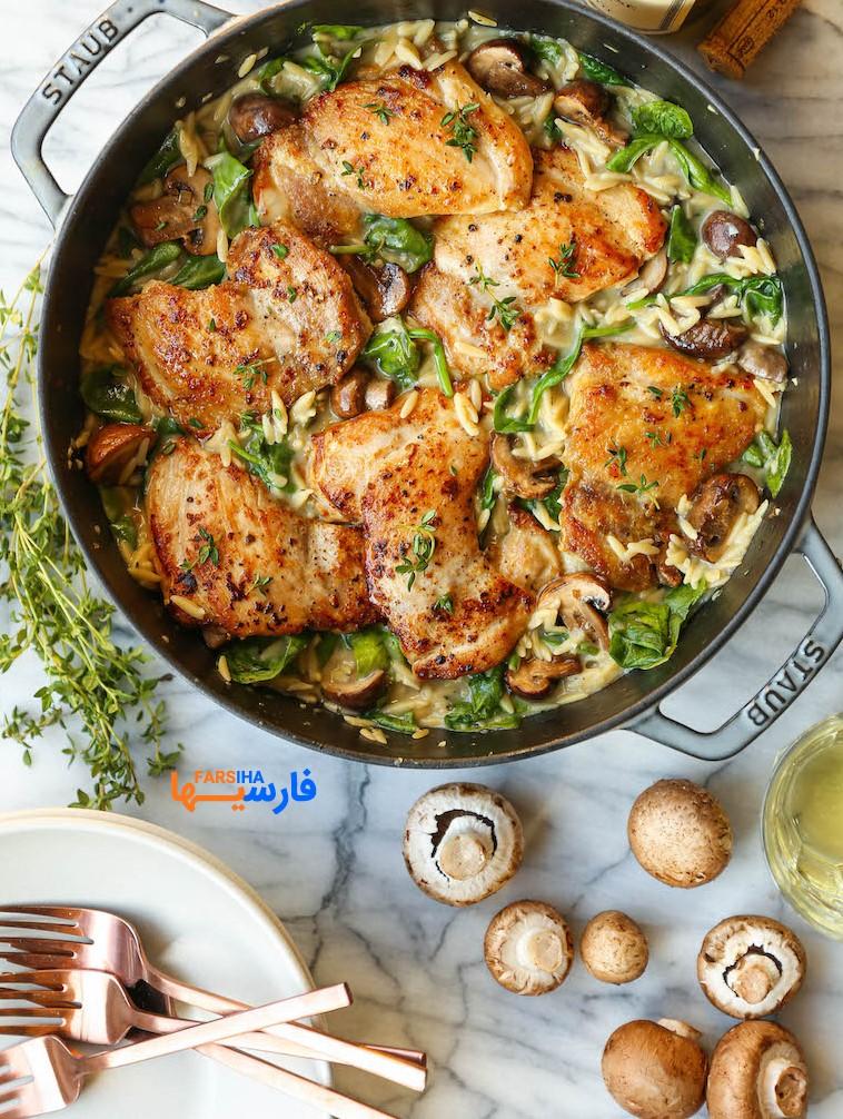 طرز تهیه 4 مدل غذا با مرغ،خوشمزه و جدید