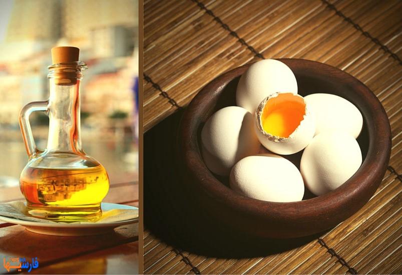 ماسک موی تخم مرغ و روغن زیتون