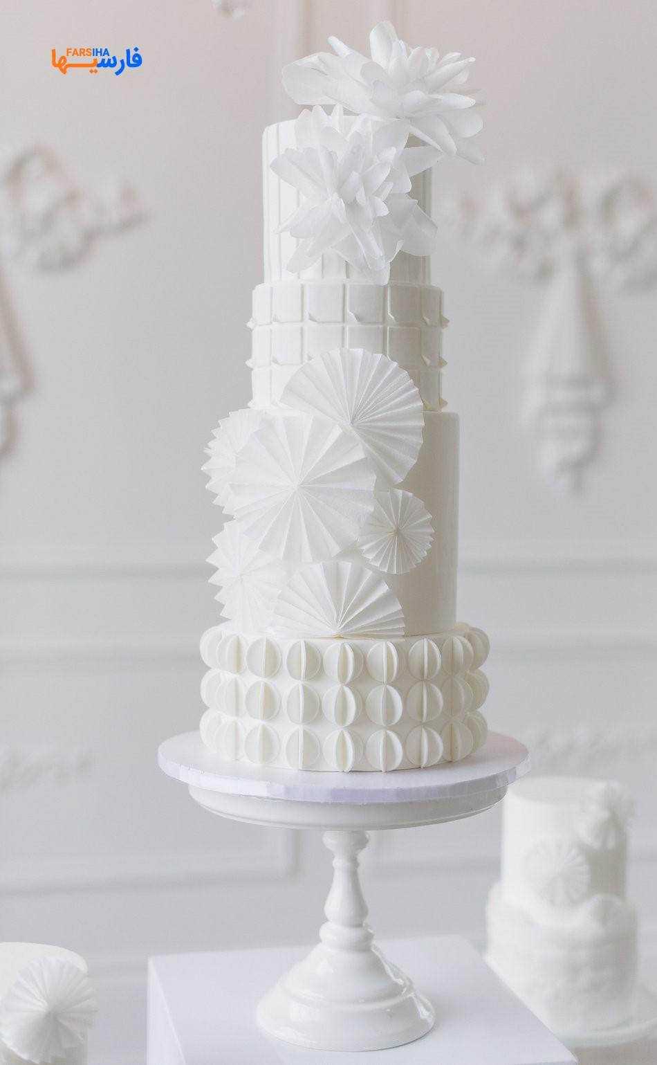 کیک عروسی طبقه ای شیک