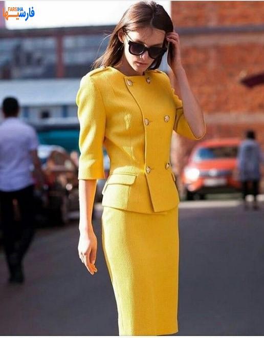 بلوز و دامن زرد