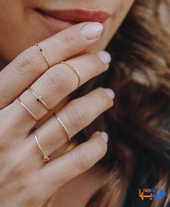 انگشتر ظریف زیبا