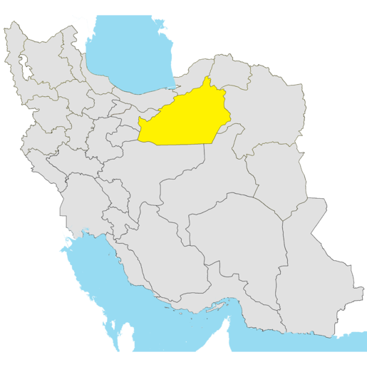 Map and cities of Semnan province