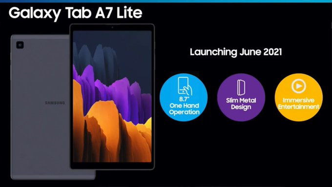 Specifications of Samsung Galaxy Tab A7 Lite tablet revealed