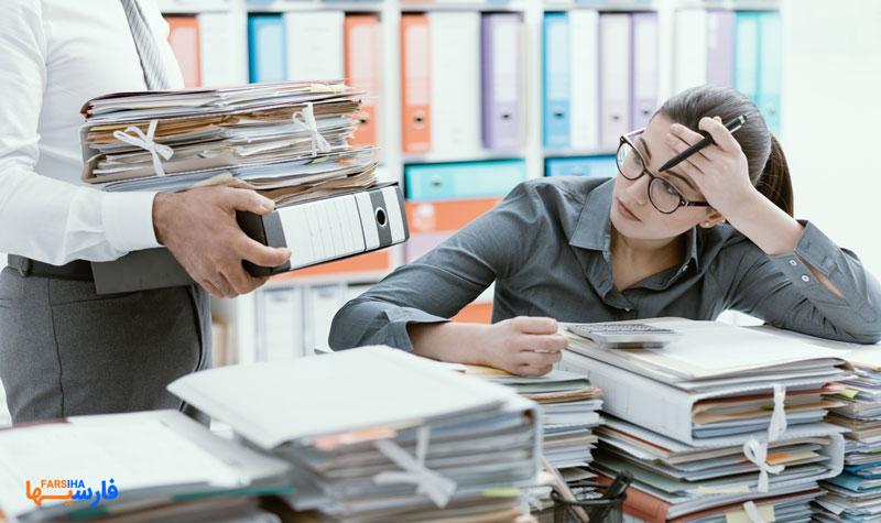 فشار و استرس در محیط کار