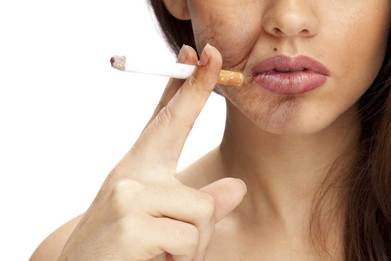What effect will smoking have on the skin and face?