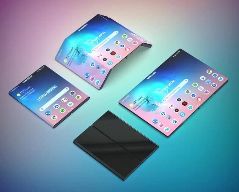 Samsung's next-generation clamshell device will likely be equipped with three displays
