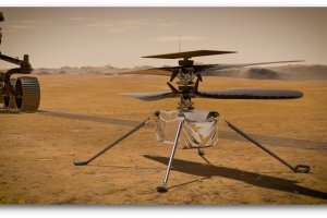 Successful flight of a NASA helicopter to Mars