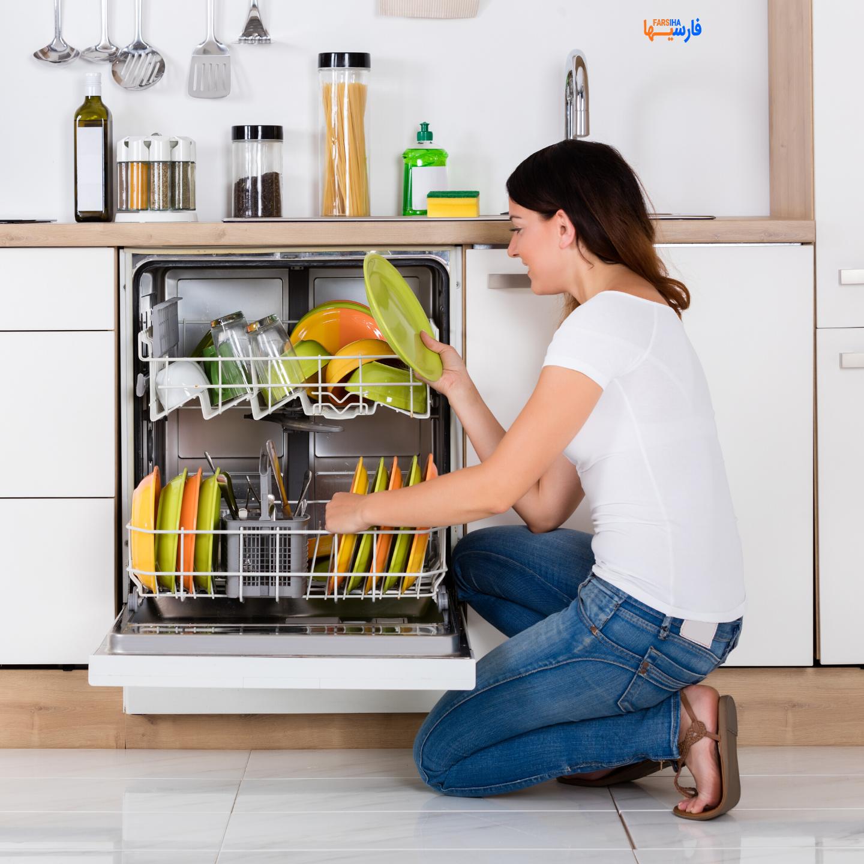 نحوه تمیز کردن ماشین ظرفشویی