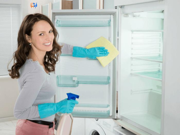 تمیز کردن یخچال