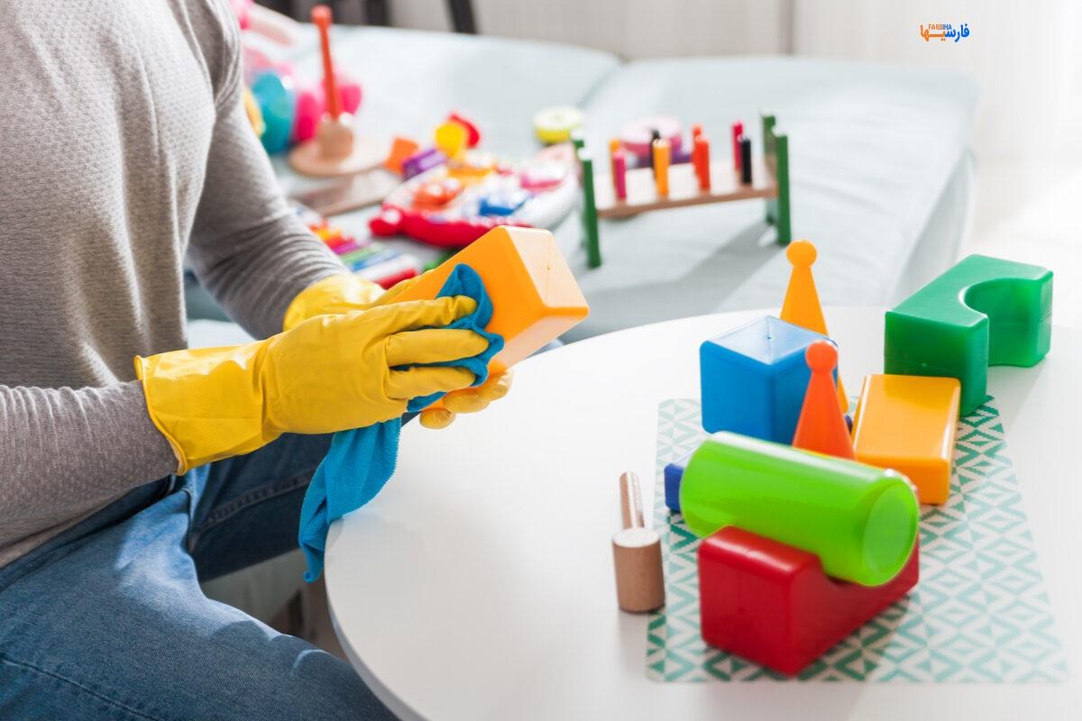 ضدعفونی کردن اسباب بازی