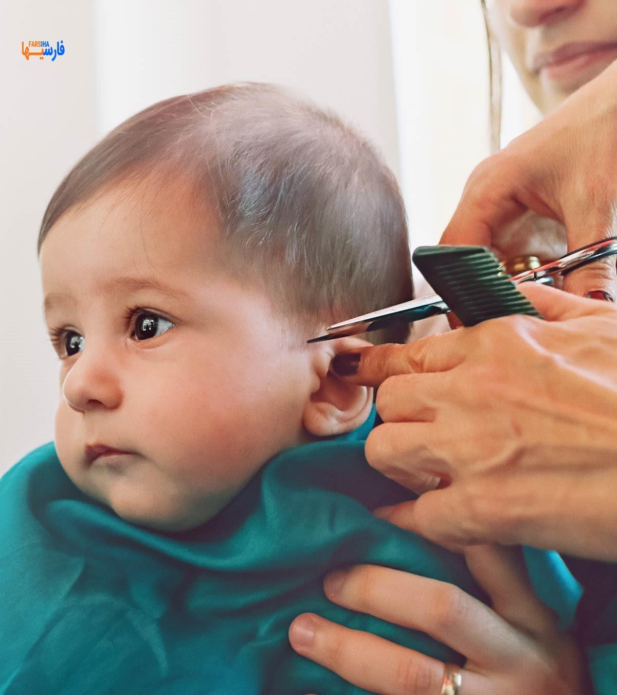 کوتاه کردن مو کودک در خانه