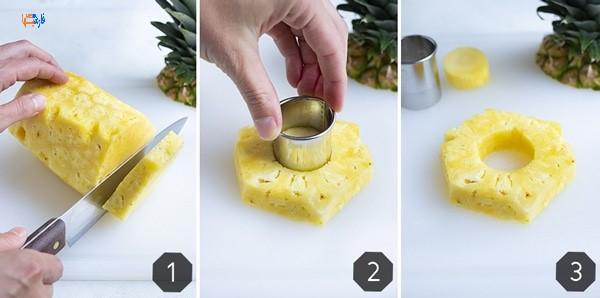 نحوه برش آناناس